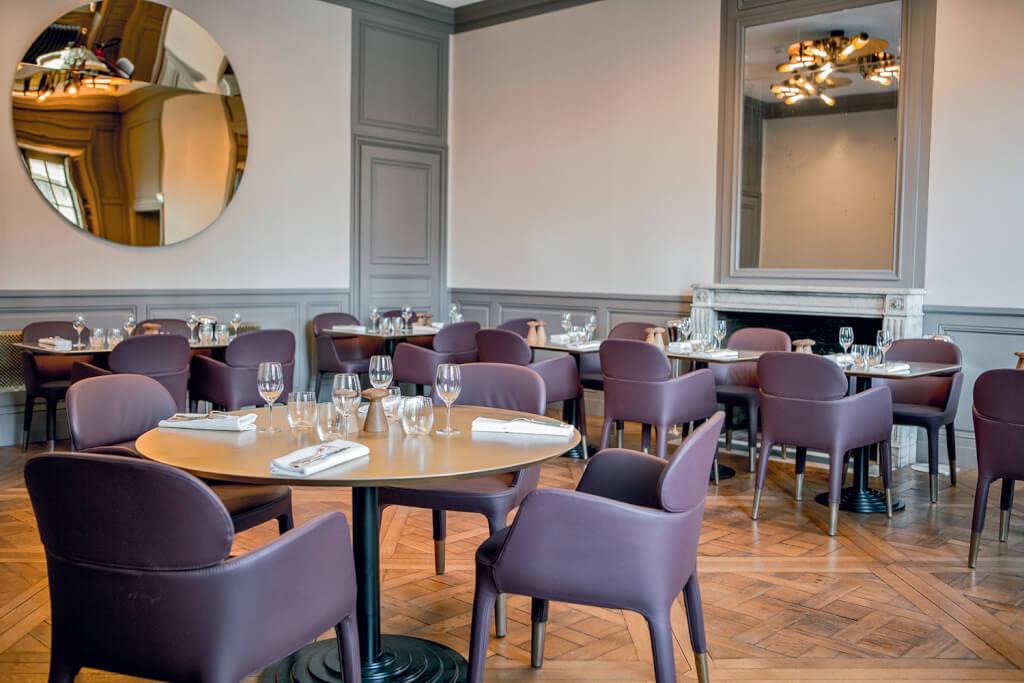 Salon Le Vau du restaurant ore–Ducasse. Photographie Pierre Monetta.