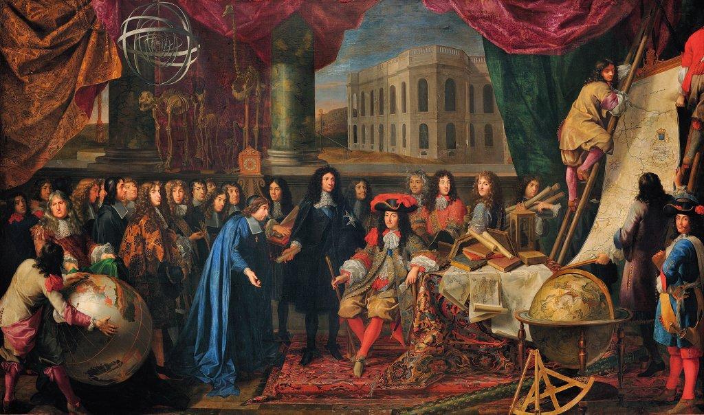 Présentation par Colbert des membres de l'Académie des sciences à Louis XIV en 1667
