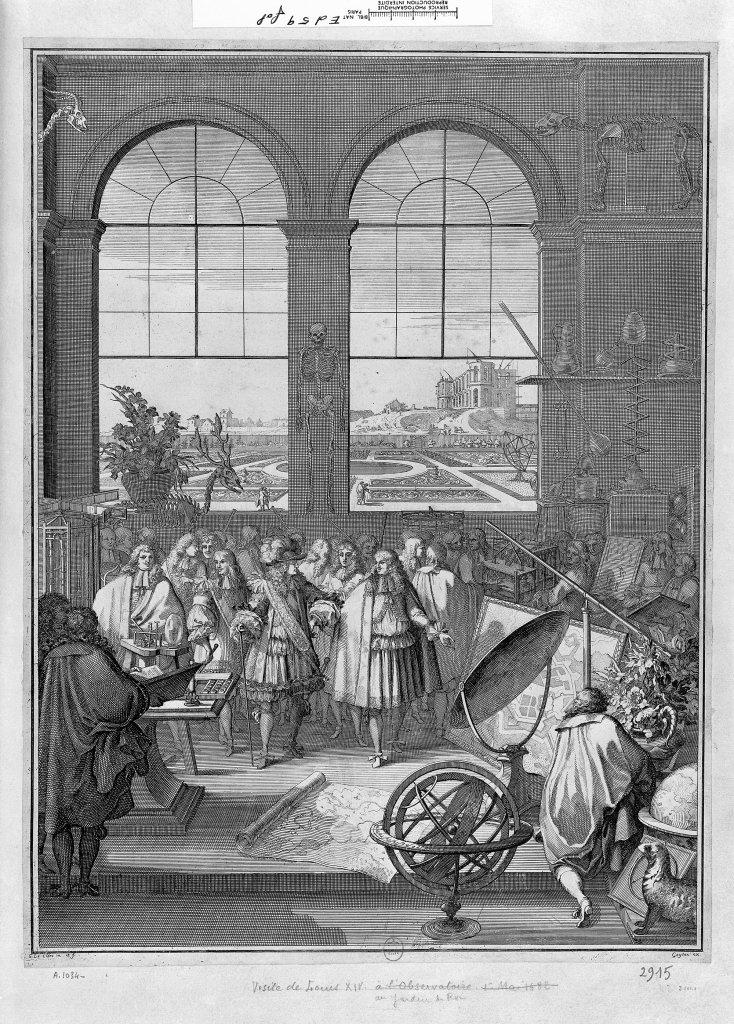 Visite de Louis XIV auJardin du roi