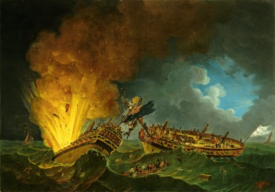 Combat de La Surveillante contre leQuébec,  le 7 octobre 1779, Auguste-Louis deRossel (1736-1804)