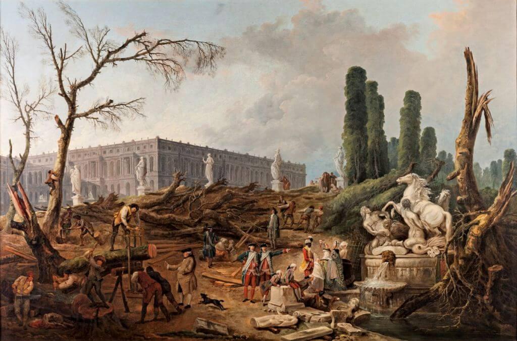 Le bosquet des Bains d'Apollon, Hubert Robert, 1733-1808
