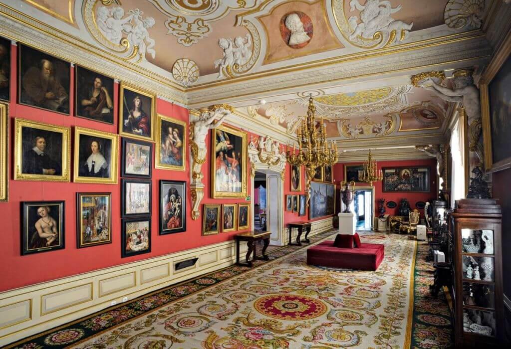 Vue intérieure du Palais de Wilanów