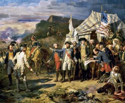 Le Siège de Yorktown, le17 octobre 1781, Auguste Couder (1790-1873)